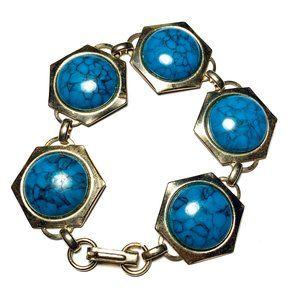 Vintage 60s Faux Turquoise Bracelet MCM